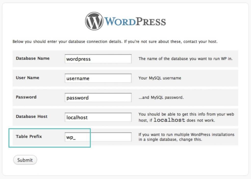 wordpress-table-prefix-1024x729 WebHostingPeople