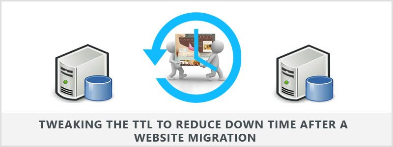 Tweaking the TTL to reduce downtime after a website migration