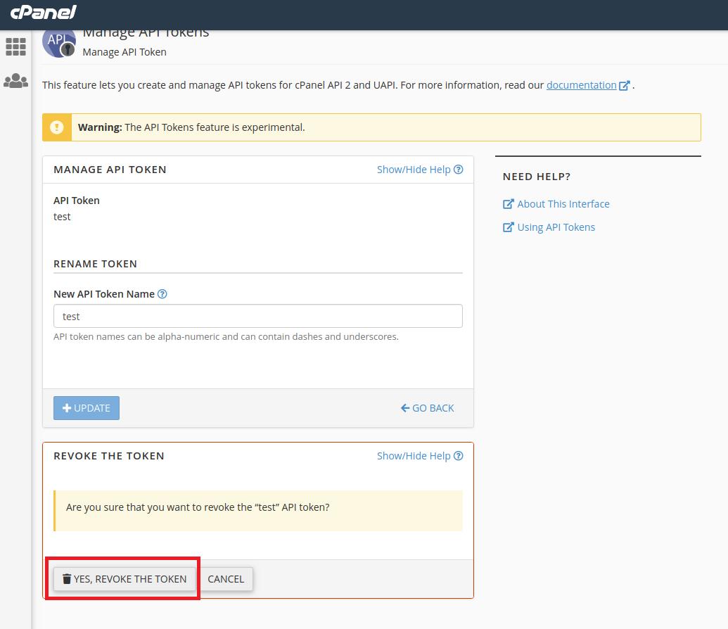 Manage API Tokens