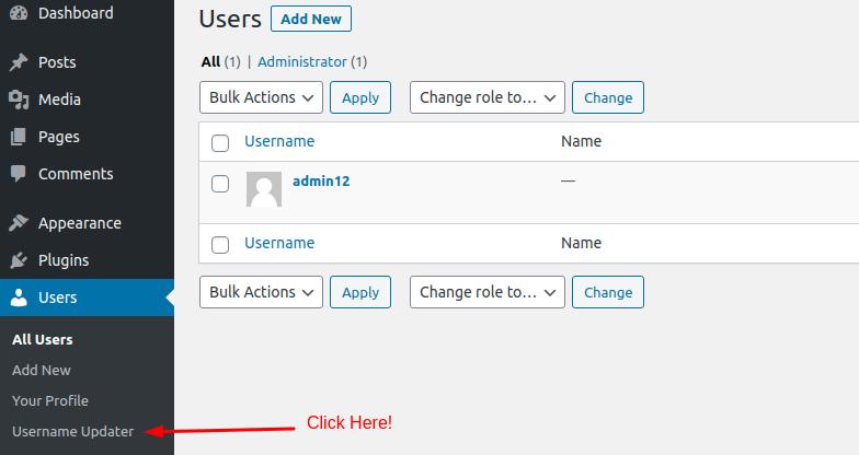 Username Updater