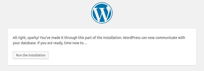 WordPress installation - Part 3
