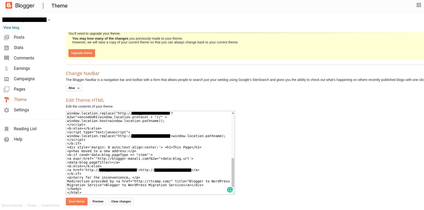 Blogger to WordPress Redirection Using Plugin