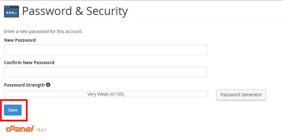 Reset Mail Password