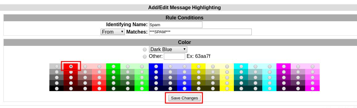 Message highlighting