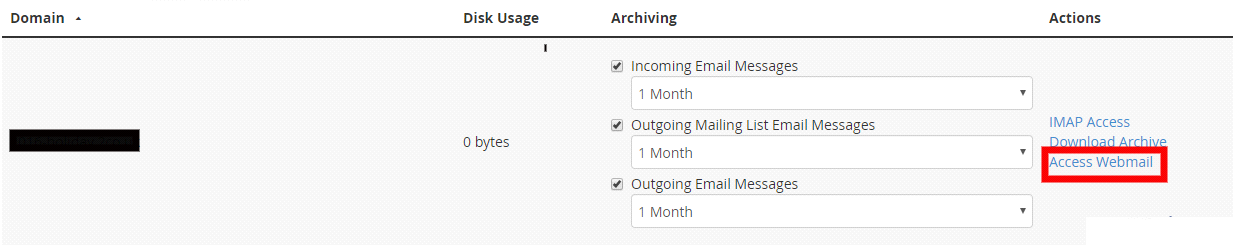 View archived mails