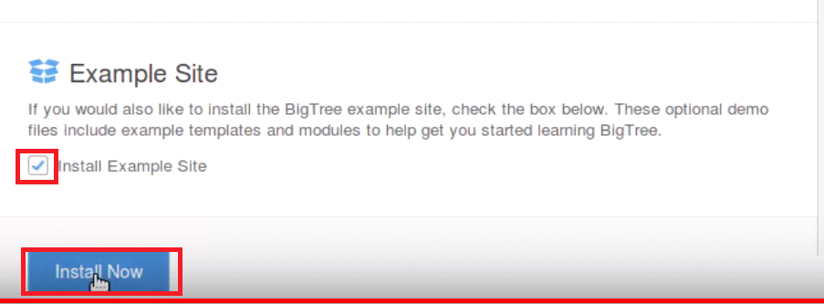 Install BigTree