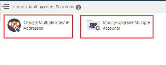 Multiaccount functions