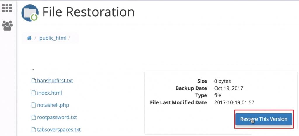 File Restoration