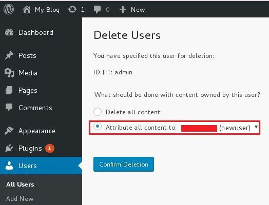 Change WordPress Admin Username from Dashboard