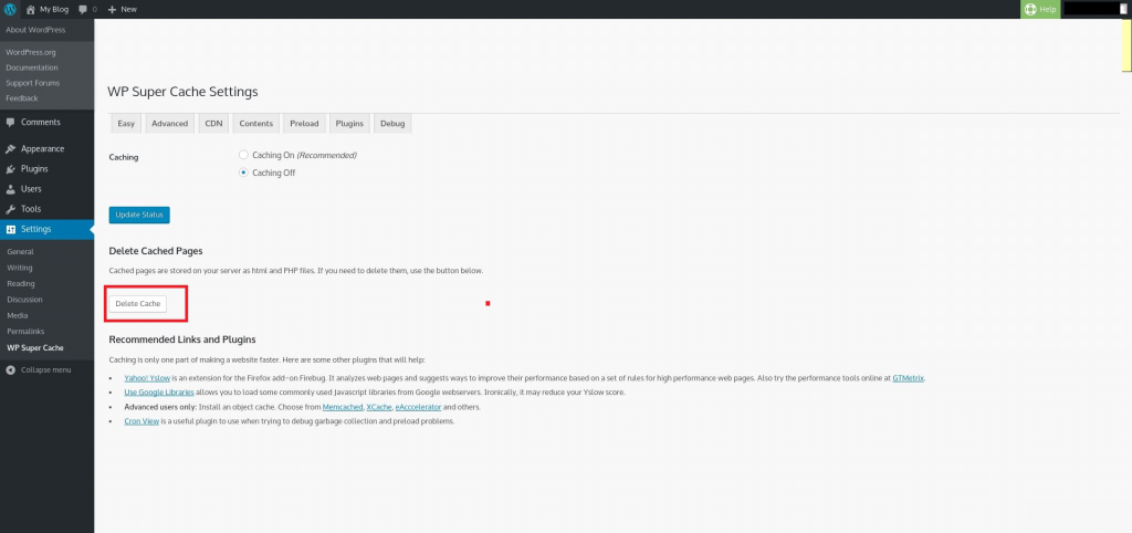 WordPress Cache W3 Total Cache