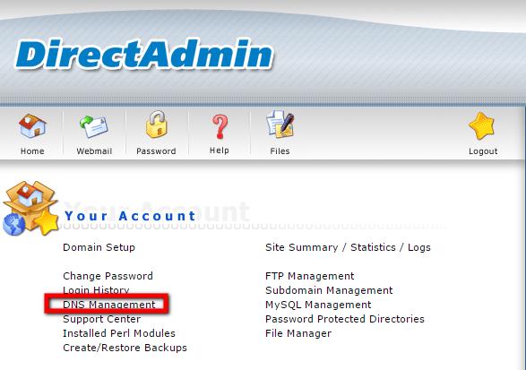 DNS Management in DirectAdmin
