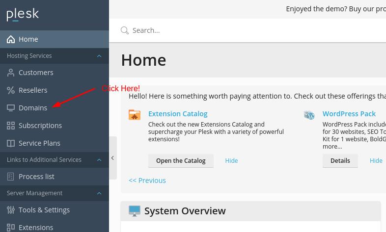 Install WordPress from Plesk - Step 2