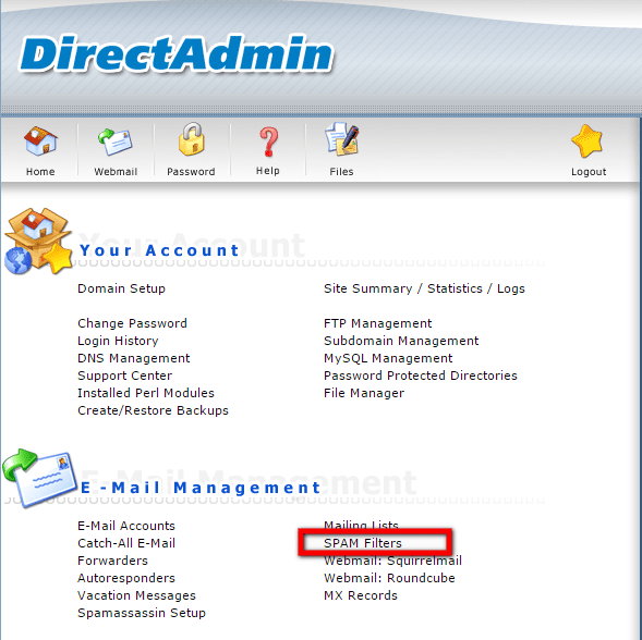 SPAM-Filters-in-DirectAdmin