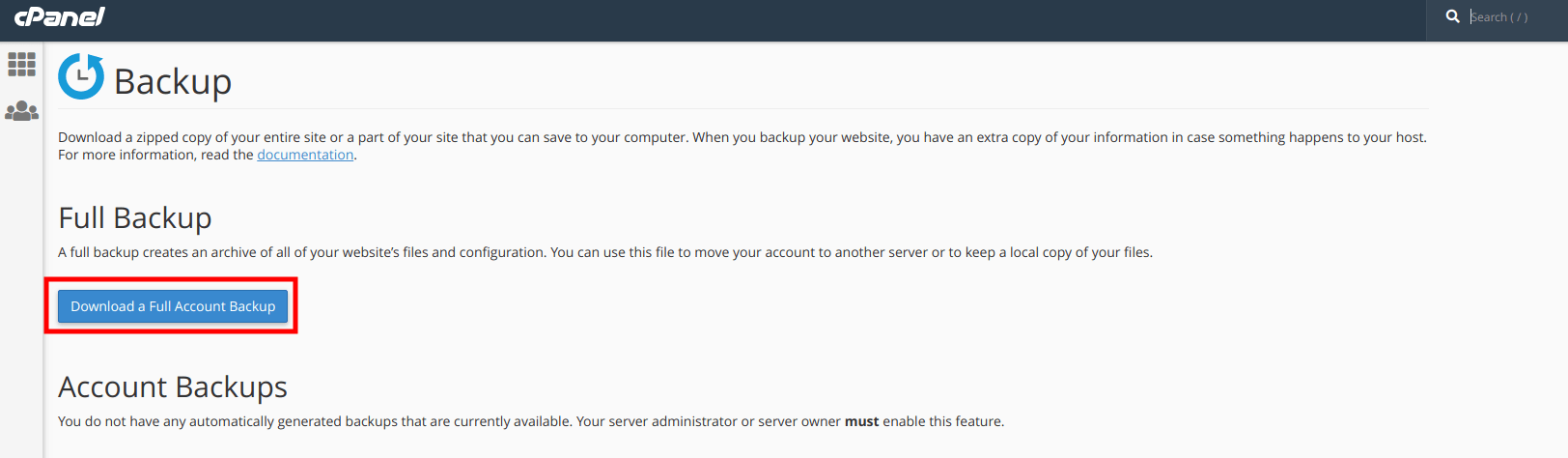 cpanel to webmin